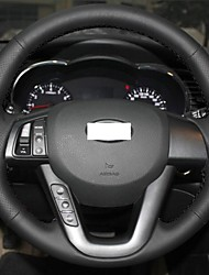 Xuji ™ cuoio genuino del nero della copertura del volante per Kia K5 2011 2012 2013