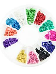 12 cores de aço 12 milímetros Cadeia Decorações Nail Art