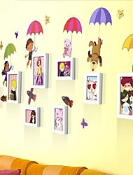 Photo Frame Set of 8 with Wall Sticker 60