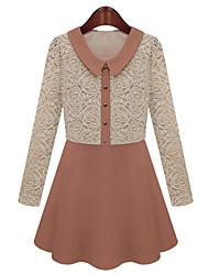 Women's Dresses , Lace Casual/Work OuLun