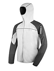 AMADIS Blanco + Gris Poliéster Anti-UV de manga larga chaqueta de Pesca