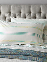 Green Stripe Sheet Set, 4 Pieces 100% Cotton