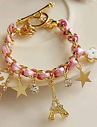 Fashions Cotingbo femmes Bracelet en cuir étoiles Tower Flower