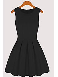 Women's Dresses , Cotton/Polyester Casual/Work XNR