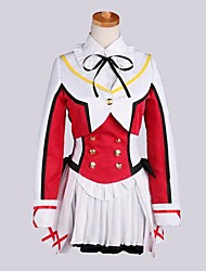 Inspired by Love Live Kotori Minami Anime Cosplay Costumes Cosplay Suits Patchwork Red Long Sleeve Coat / Vest / Shirt / Skirt / Socks