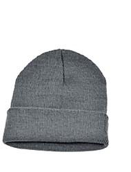 Do Beanie Unisex Solid Color Quente Plain Acrílico Knit Beanie Hat Ski
