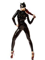 Cool Catwoman Black PVC Women's Halloween Party Costume