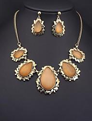 European Vintage Champagne Gem (Necklaces&Earrings) Gemstone Jewelry Sets