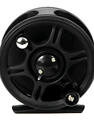 85mm plastique noir Fly Fishing Reel