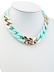 Shixin® Simple Macaroon Color Chain Necklace(1 Piece)