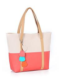 N-пай женщин в корейской конфеты типа контрастного цвета Tote / Одна сумка