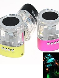Mini Hi-Fi Digital TF USB Rádio FM Speaker Speaker RGB Color (MicroSD Reader, USB, rádio FM, cores sortidas)