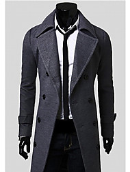 moda inverno estilo casaco de tweed confortável homens coton