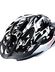 FJQXZ Men's Half Shell Bike helmet 15 Vents Cycling Cycling PC / EPS White / Black