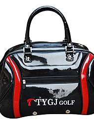 Men's Black PU Clothing and Shoes Golf Shoulder Bag