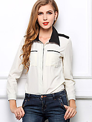 Women's Casual Shirts , Chiffon Casual LIVA GIRL