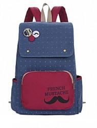 New Style Monsieur moda Preppy Estilo Mochila Canvas