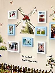2 Farben Photo Frame Set von 8 mit Wandsticker