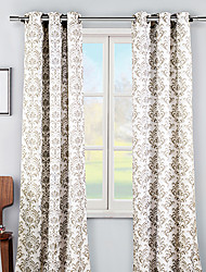 "(One Panel Grommet Top) Country Fancy Floral Arabesque Energy Saving Curtain - 52 W × 84"" L"