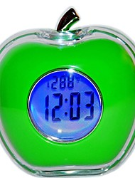 Timess™  Apple-Shaped Talking Thermometer LED Digital Alarm Clock