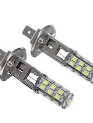 H1 25SMD White Light LED para lâmpada do farol (2pcs)