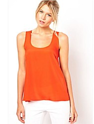 The One & Only Women's Sexy Hollow Out Backless Round Collar Vest T-Shirt D614A9946