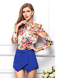 t-girl Chiffon schlanke Langarm-Shirt