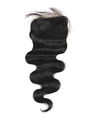 Haute Qualité cheveux brésilien dentelle Fermeture Carrosserie vague 12inch En stock