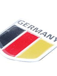 5 * 5cm drapeau de l'Allemagne Modèle allemand emblème aluminium moto bricolage Sticker Decal