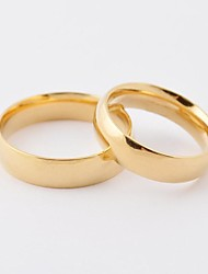 Fashion Gold Shiny Titanium Steel Couple Rings
