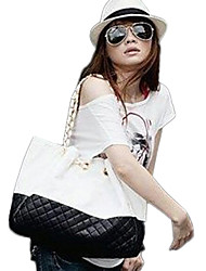 Lady Fashion Embroidery PU Leather Shoulder Bag/Tote(Black)