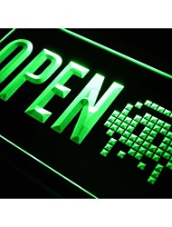 OPEN Game Shop Store Display Neon Light Sign