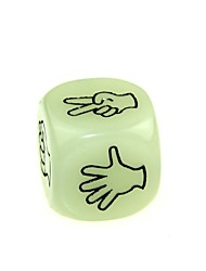 Lustiger Spaß Gambling Bar Dice Luminous Gesture Dice (2 Stück)