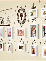 White Photo Frame Set of 13 with Wall Sticker