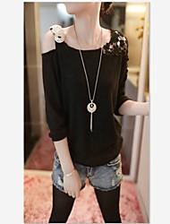 moda camisa causual de malhas de Suki mulheres