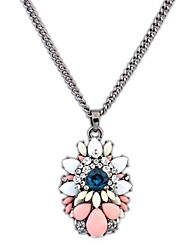 Angelasex Luxurious Exaggerate Gemstone Flower Necklace