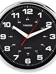 "Timess™ 12""H  Cospla Style Super Mute Metallic Wall Clock"