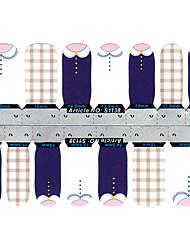 28PCS Résumé col rond design Nail Art Stickers