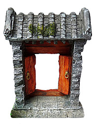 China Old Mansion Gate Design Decoration Ornament for Aquarium