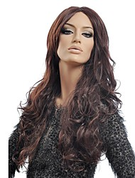 Capless Long Curly Brown High Quality Synthetic Wig