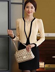 Hanyiou® Women's OL Self Splicing False Two Piece Suit Dress