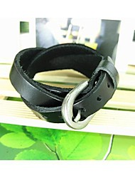 Uomo Three Times Rope Leather Bracelet interno substrato
