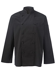 Restaurant Uniforms Black Long Sleeve Chef Coats with Double-Breasted Buttons