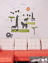 Padrão Mundial dos Animais adesivos de parede (1PCS)