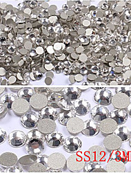 1440PCS Half Round Flat Base Rhinestone Nail Art Decorations(3mm)