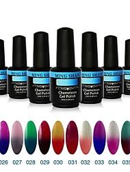 1Pcs MINGSHAN 15ml Chameleon Color Changing UV Gel Polish Assorted Colors No.25-36