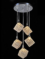 Max 40W Modern/Contemporary / Lantern Crystal / Bulb Included Electroplated Metal Pendant Lights Bedroom / Dining Room / Hallway