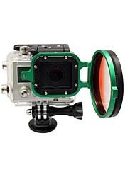 2014 Chegada Nova acessórios da câmera 58 milímetros Flip Converter para GoPro 3 Habitação - Verde