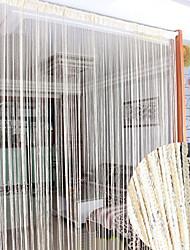 "39 ""w * 78"" l país clásico sólida línea de cortina cubra - 2 colores disponibles"