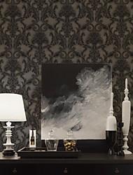 Papel de parede floral clássica PVC